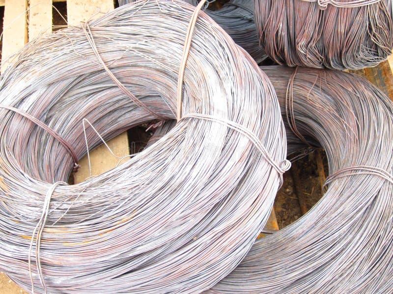 Bobina do fio de aço foto de stock