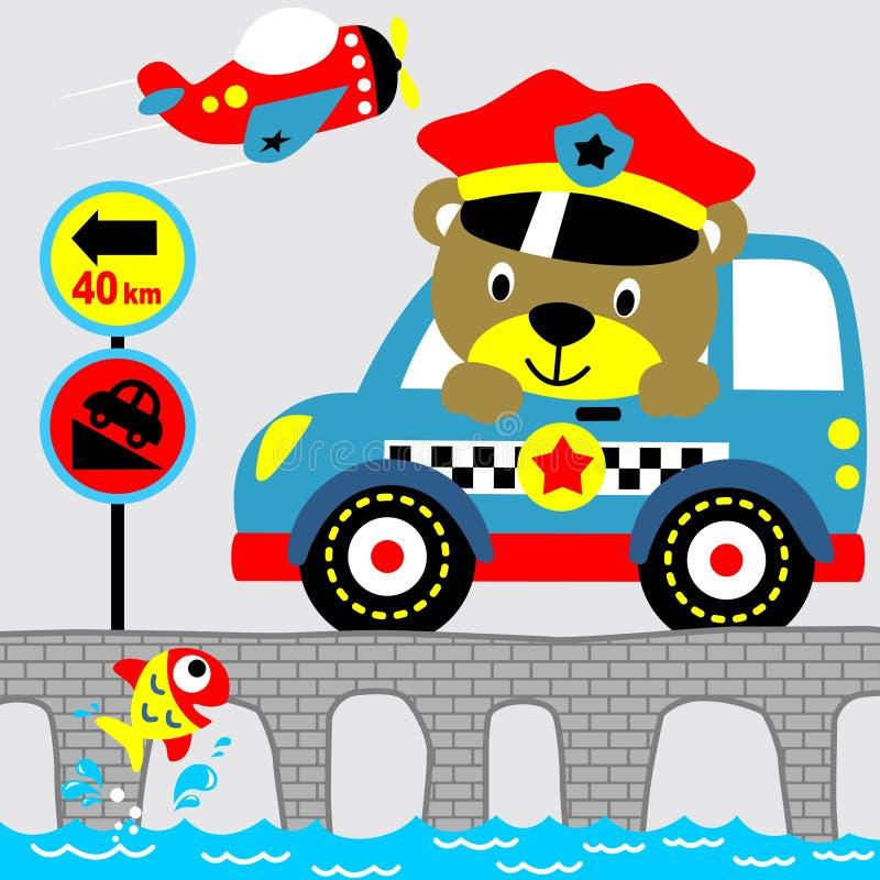 Bobina do urso ilustração royalty free