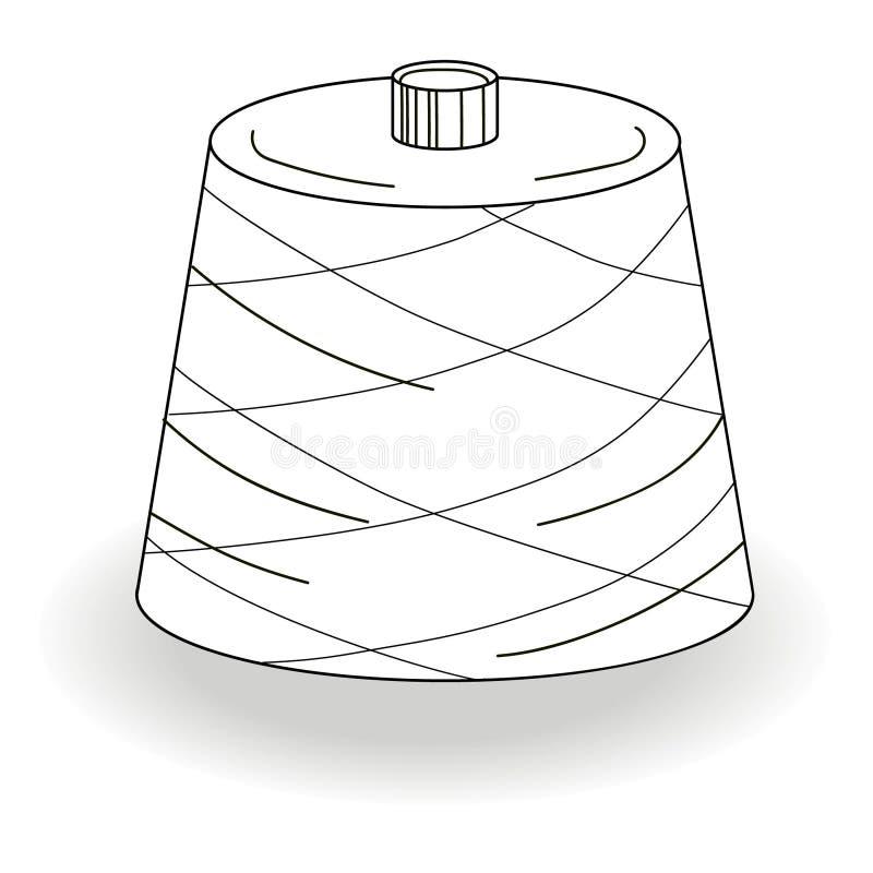 Bobina z tekstylną przędzą obraz stock