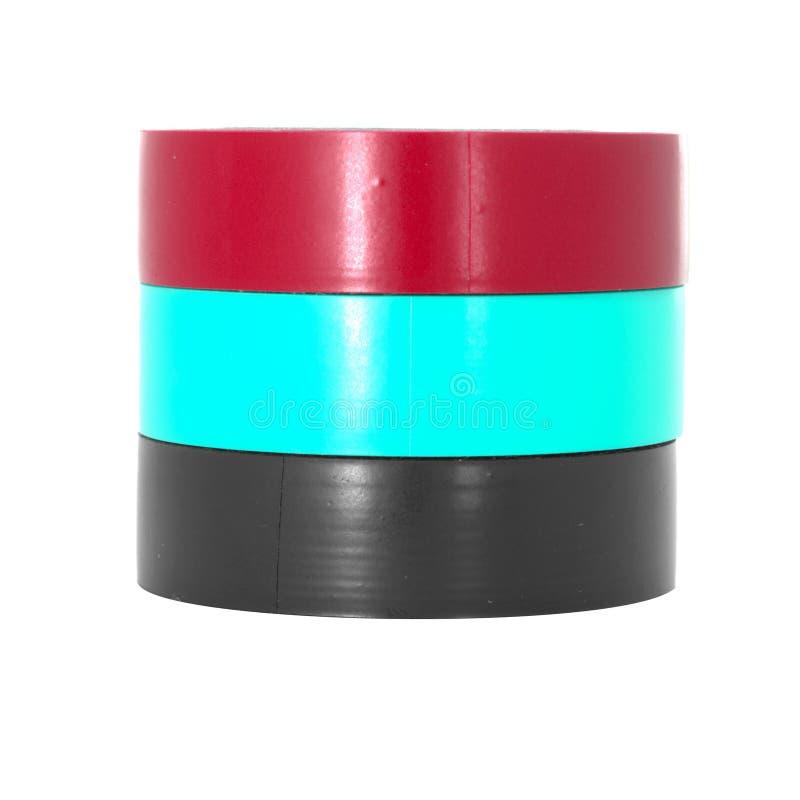 Bobinas adesivas da fita da isolação da cor imagem de stock royalty free