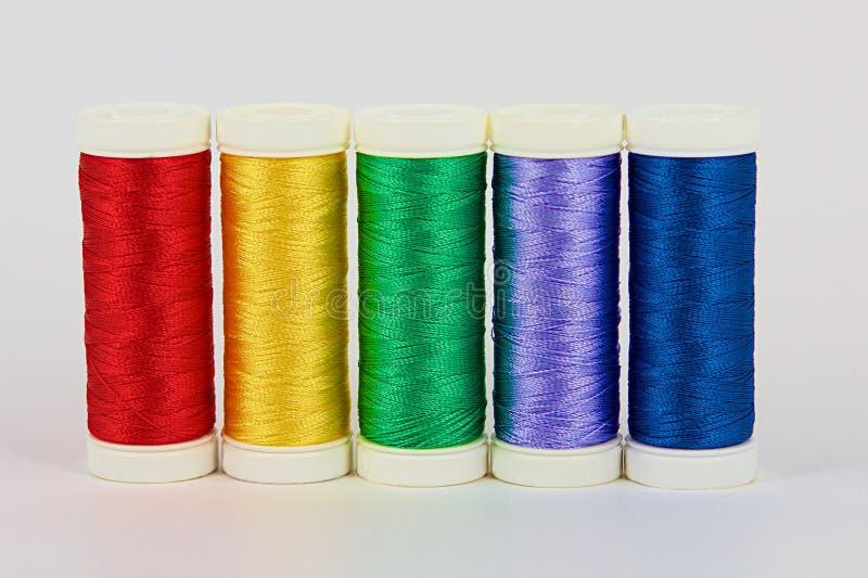 Bobinas del color imagenes de archivo