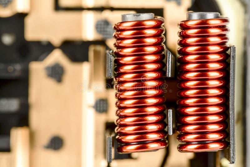 Bobinas eléctricas foto de archivo libre de regalías