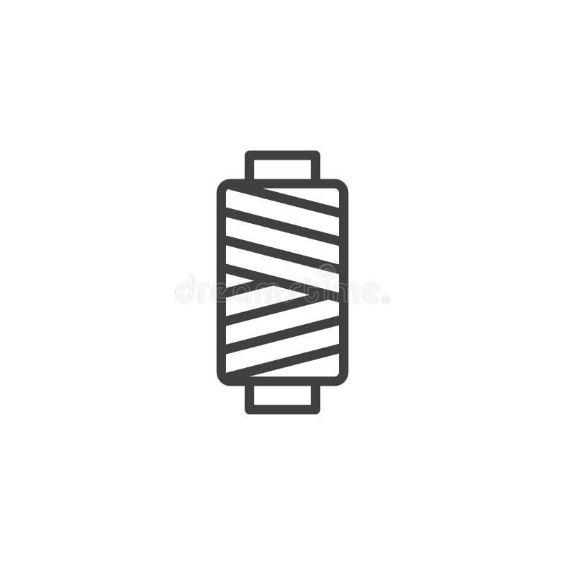 Bobine de fil de couture illustration stock