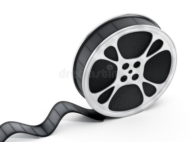 Bobine de film d'isolement sur le fond blanc illustration 3D illustration libre de droits