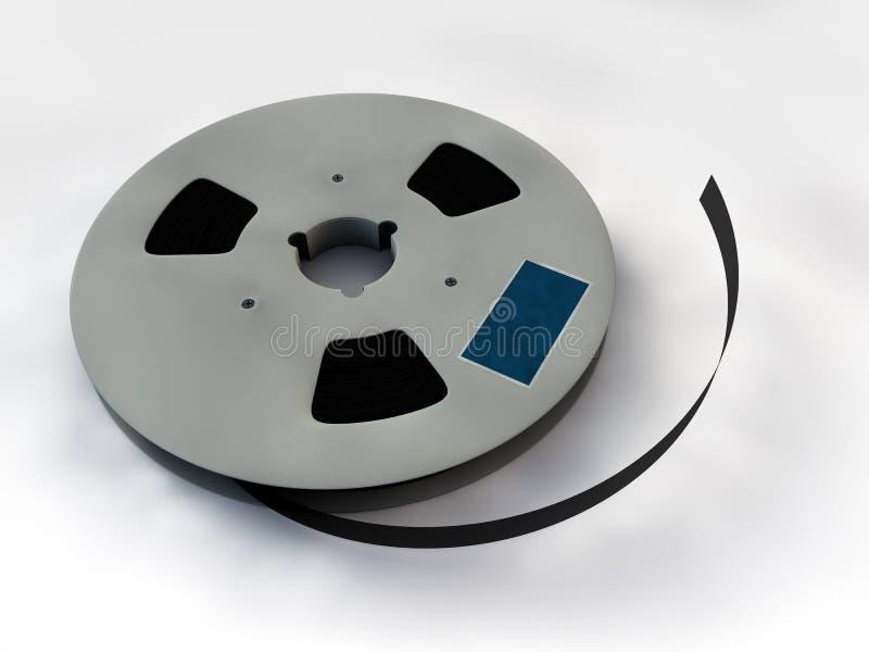 Bobine de film de cinéma de 35 millimètres illustration de vecteur