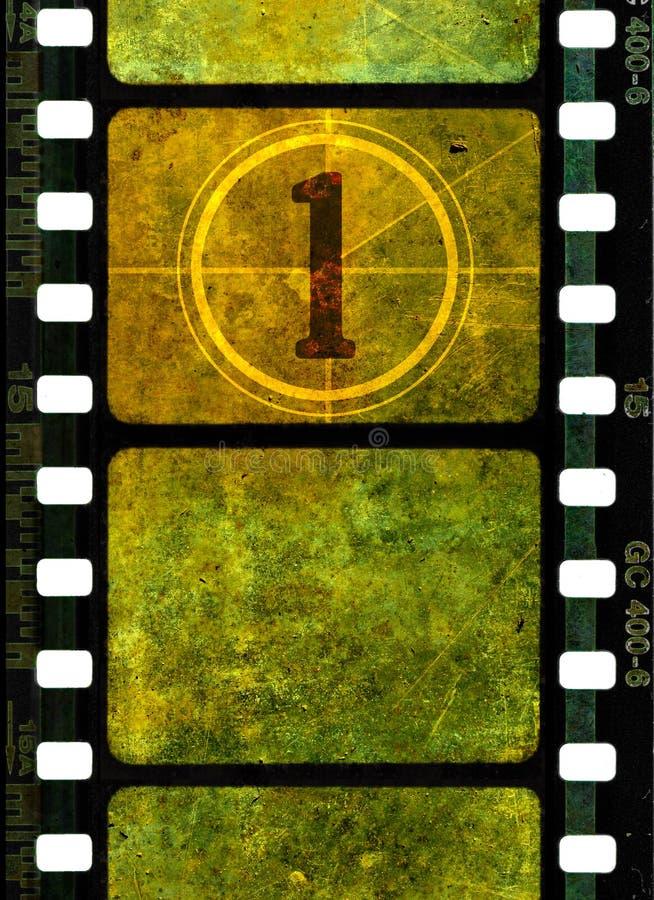 Bobine de film de film du cru 35mm illustration libre de droits