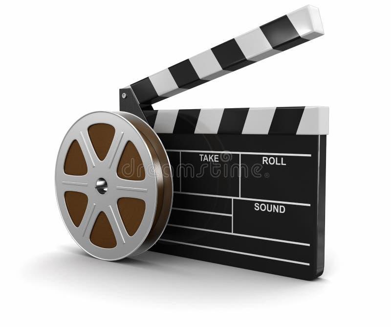 Bobine de film et bardeau illustration libre de droits