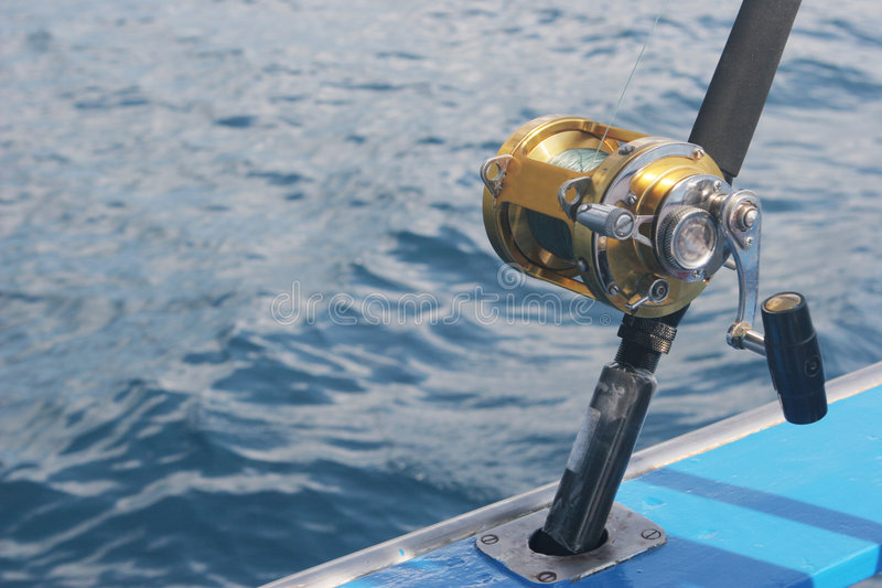Bobine de pêche image stock