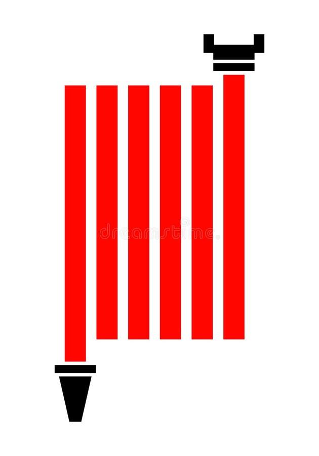 Bobine de tuyau d'incendie Icône plate de couleur d'isolement sur le fond blanc Vecteur illustration de vecteur