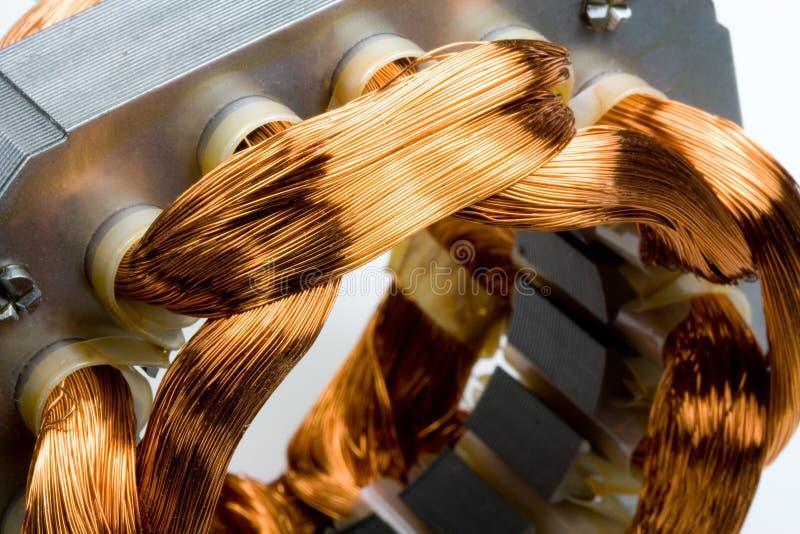 Bobine del rame dal motore elettrico immagine stock libera da diritti