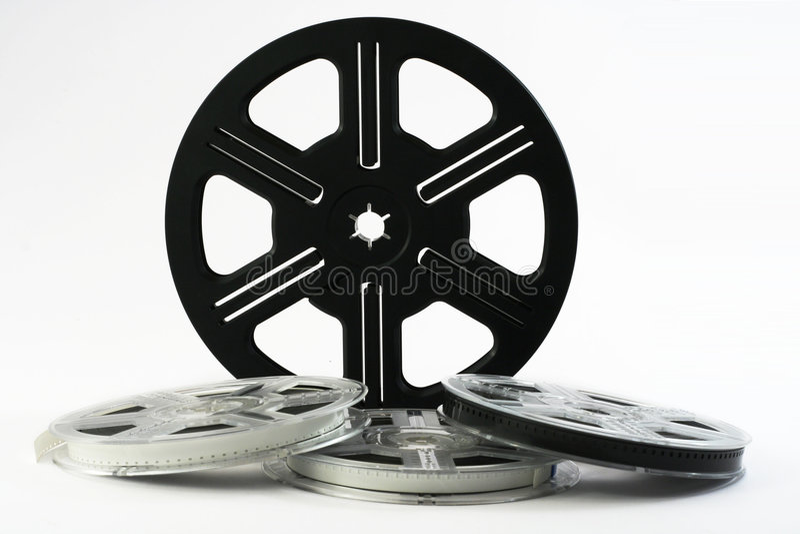 Bobine di pellicola con le pellicole 8 immagine stock