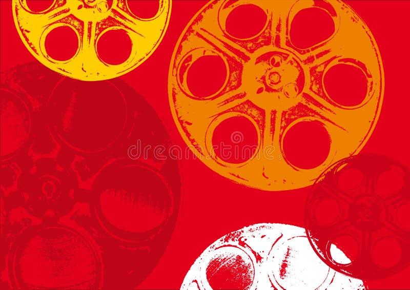 Bobine di pellicola rosse illustrazione vettoriale