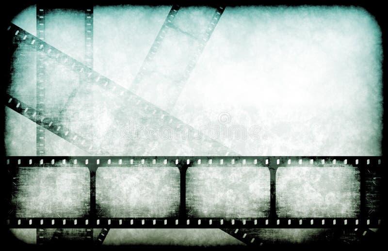Bobine di punto culminante dell'industria cinematografica illustrazione di stock
