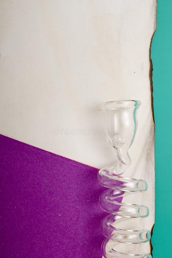 Bobine en verre de laboratoire images libres de droits