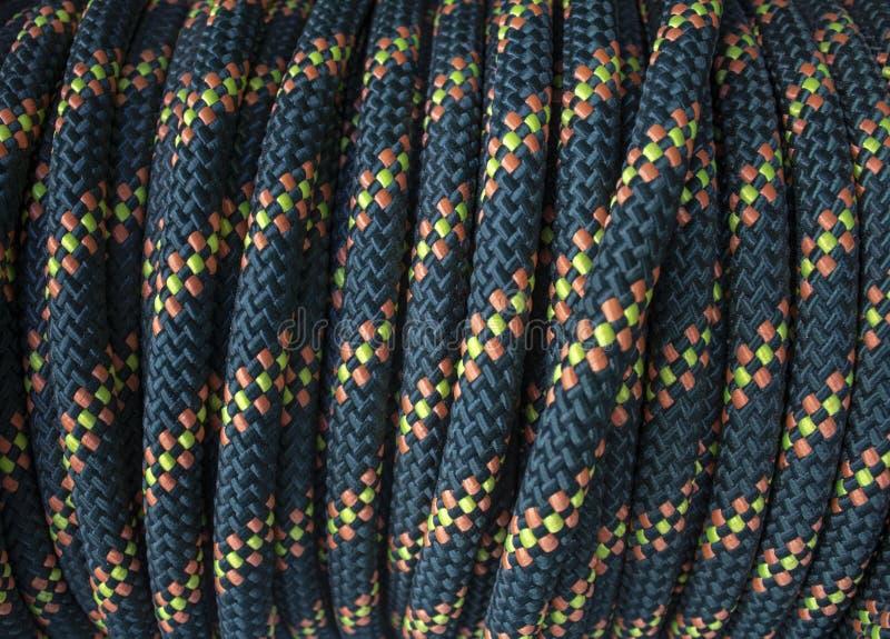 Bobine modelée jaune bleue de corde photographie stock libre de droits
