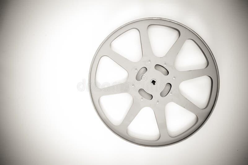 bobine vide de film de 16 millimètres noire et blanche image stock