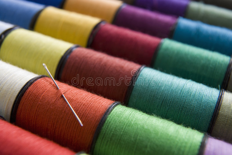 Bobines de coton image stock