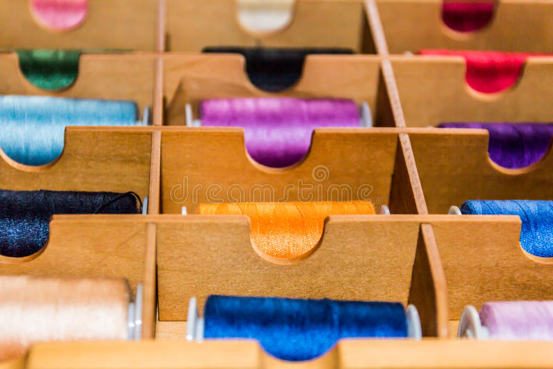 Bobines de coton images stock