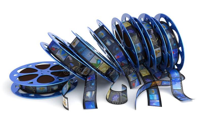Bobines de film illustration de vecteur
