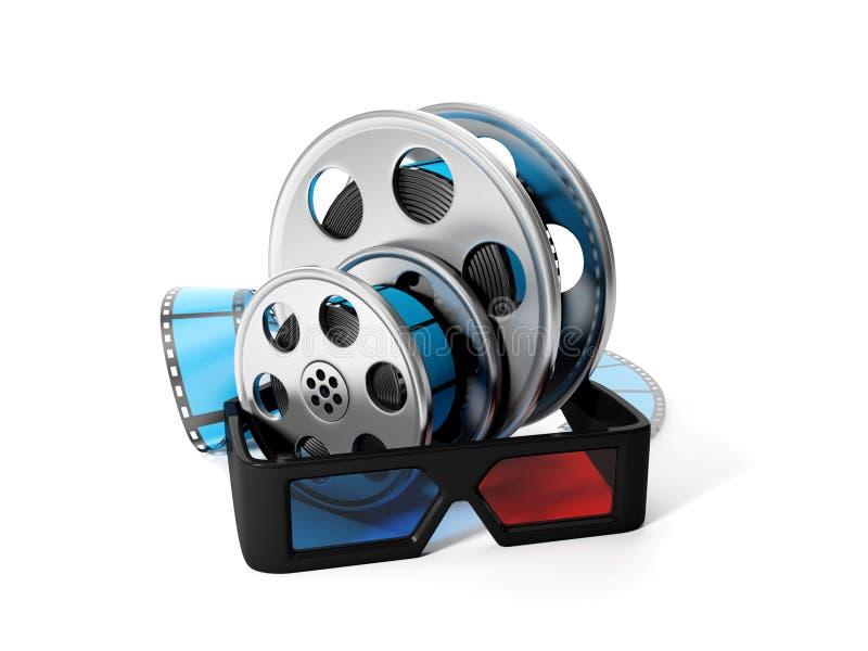 Bobines de film et de glaces 3D illustration stock