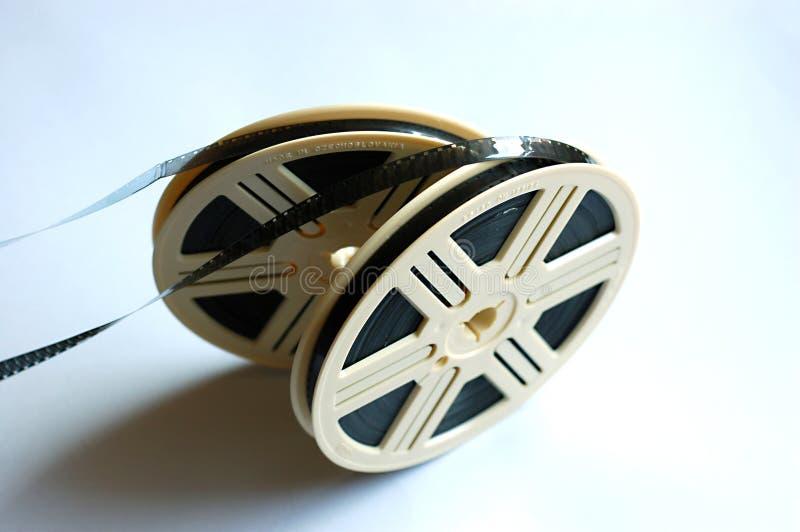 Bobines de film sur le fond blanc images stock