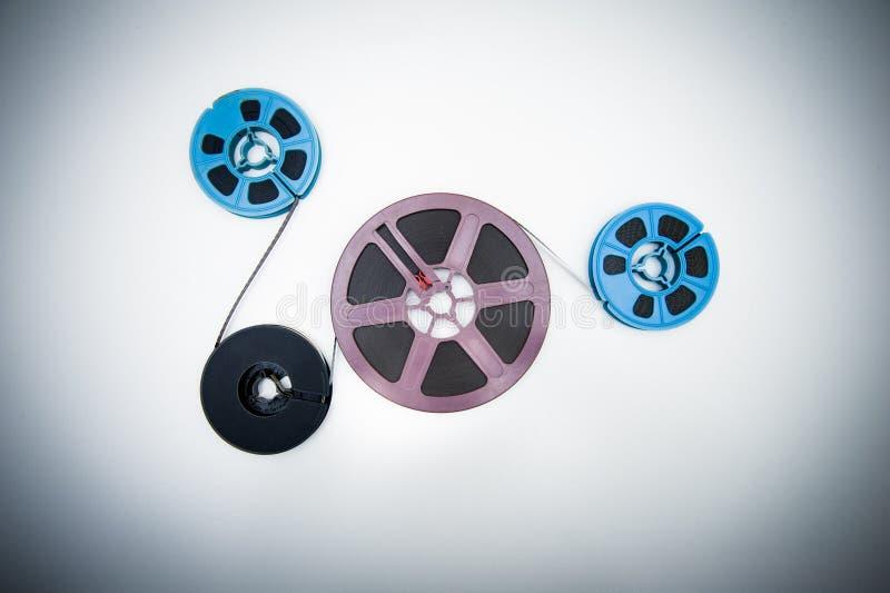 bobines différentes de 8mm liées au film photographie stock libre de droits