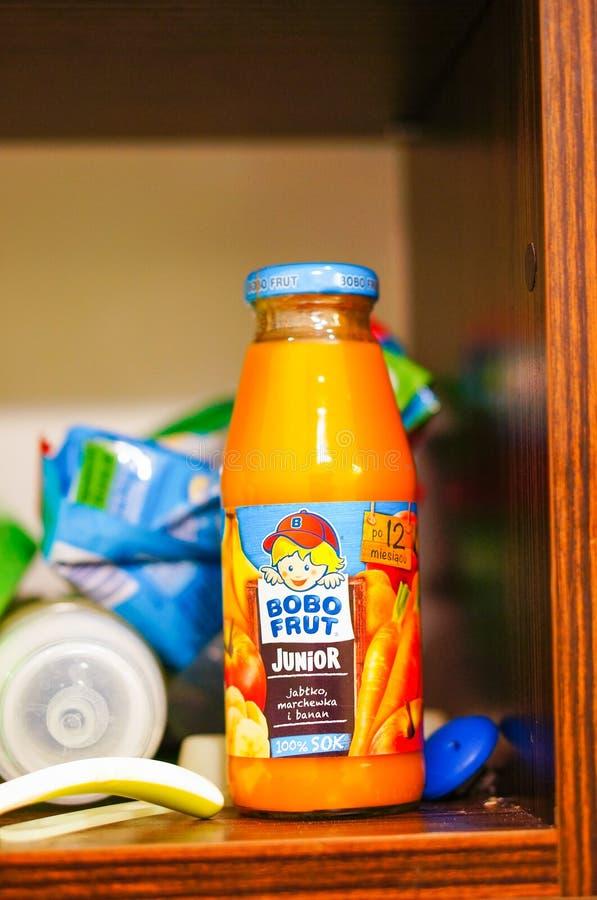 Bobo Frut Junior Juice royaltyfria foton