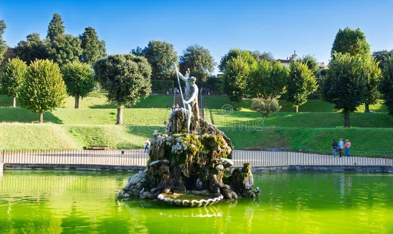 Boboli庭院在佛罗伦萨 免版税库存图片