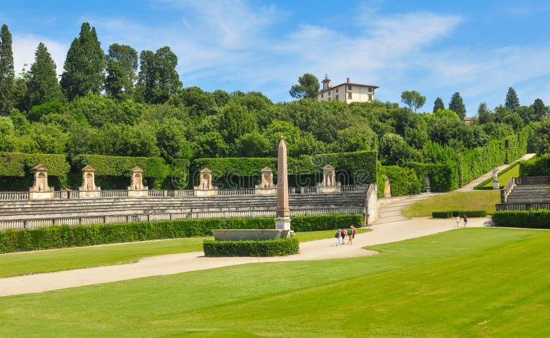 Boboli庭院,佛罗伦萨,意大利 图库摄影