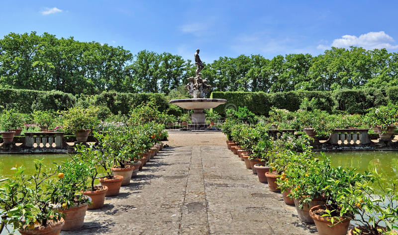 Boboli Gardens In Florence, Italy Stock Image - Image of sculpture ...