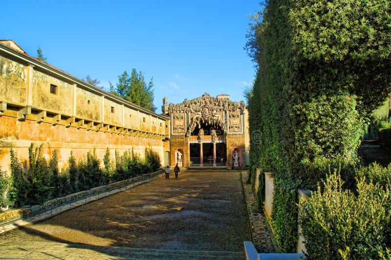 The Boboli Gardens Grotto. Grotto of the Boboli Gardens in Florence Italy in Winter stock image
