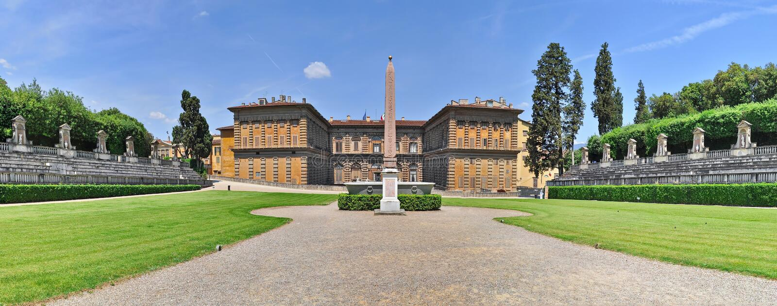 Boboli Gardens and Pitti Palace in Florence royalty free stock photos