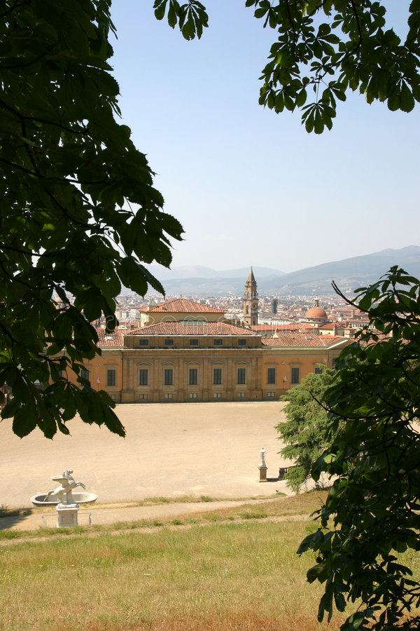 boboli palazzo pitti ogrody obraz royalty free