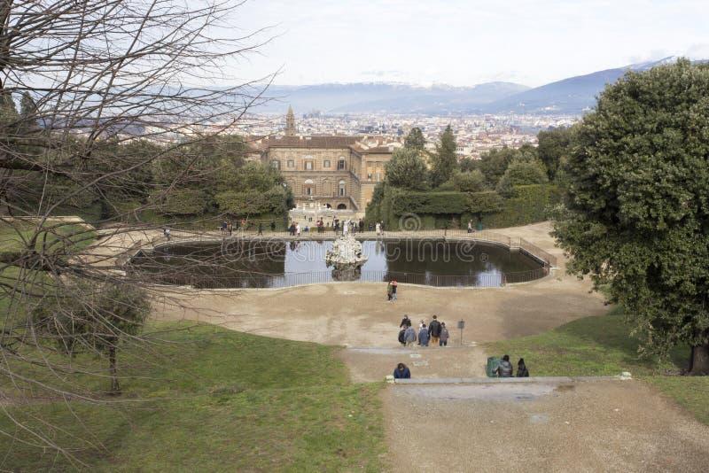 Boboli trädgård i Florence royaltyfri foto