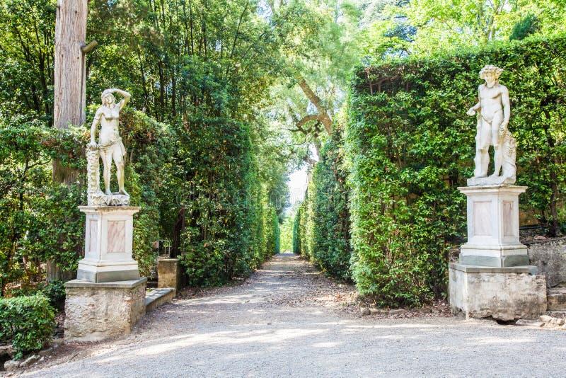 Boboli trädgårdar royaltyfria foton