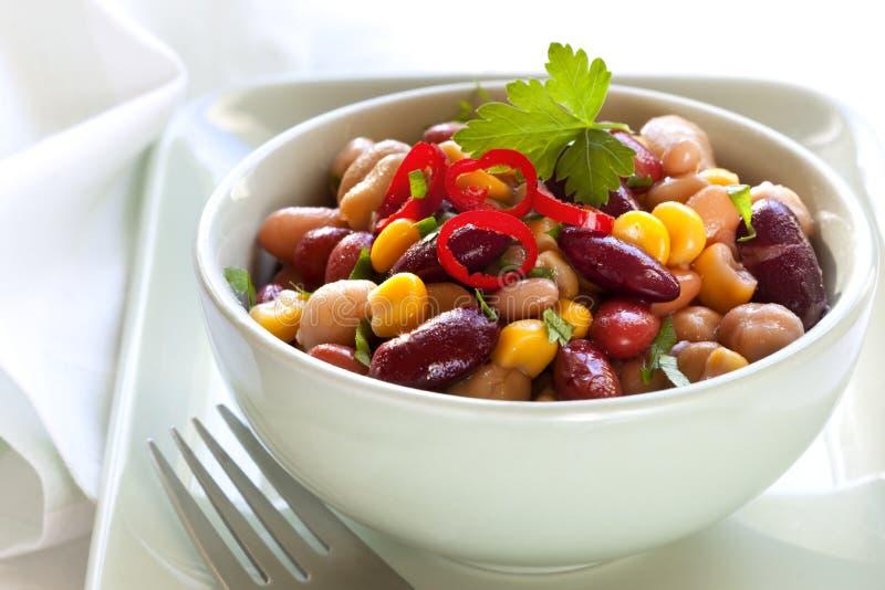 bobowego chili kukurydzana sałatka obrazy royalty free