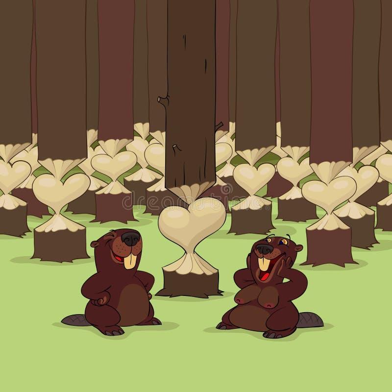 bobrów dzień s valentine zdjęcie royalty free