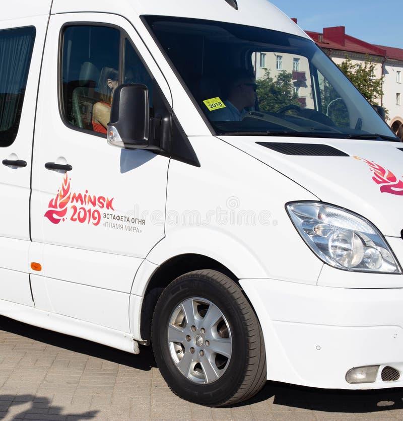 Bobruisk Vitryssland 06 03 2019: Den europeiska bilen spelar 2019, traditionellt arkivbilder