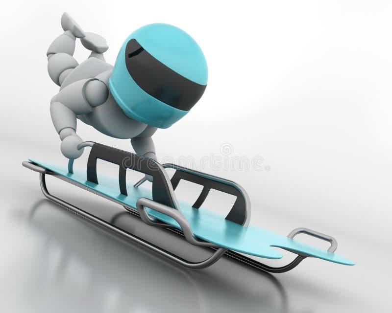bobsleigh kościec ilustracja wektor