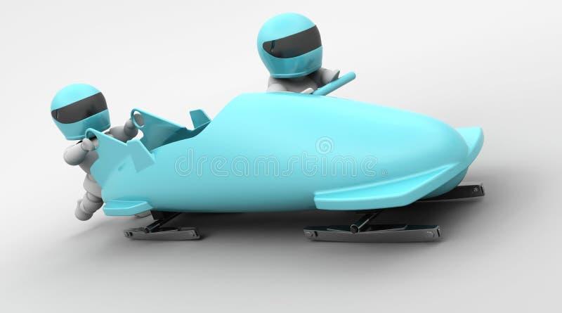 bobsleigh mężczyzna dwa ilustracji