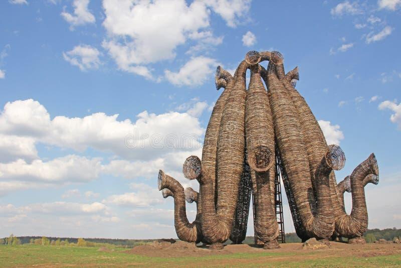 Bobur Art Park Nikola Lenivets Rusia, la región de Kaluga imagen de archivo libre de regalías