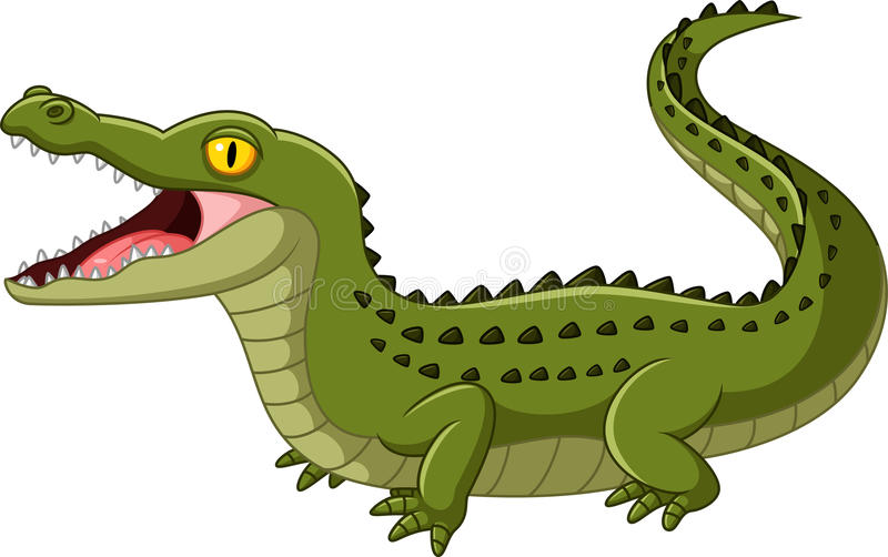 Boca abierta del cocodrilo stock de ilustración