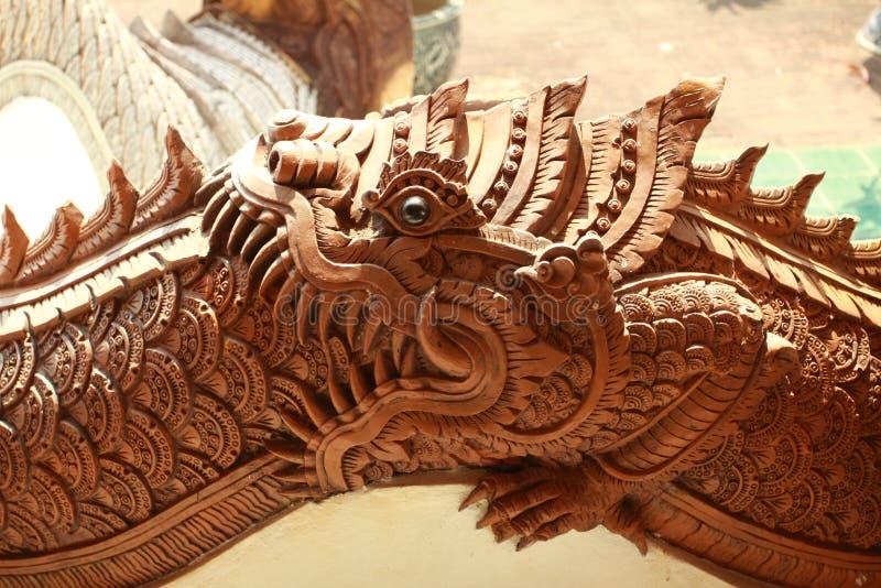 Boca abierta del dragón septentrional tailandés imagen de archivo libre de regalías