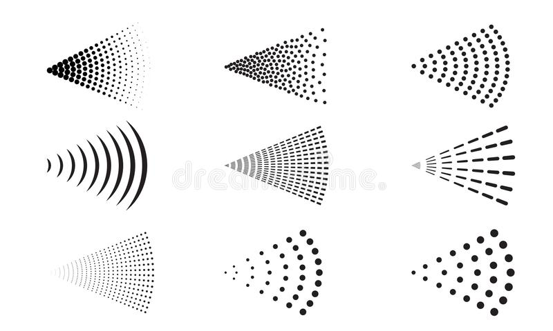 Boca agua-aire del rociador del icono del vector del espray ilustración del vector