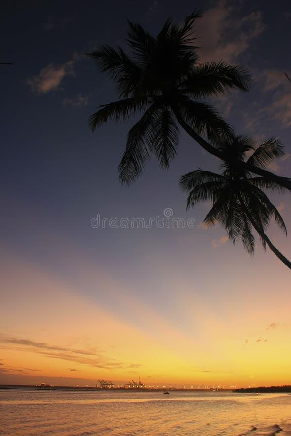 Boca Chica strand på solnedgången royaltyfria bilder