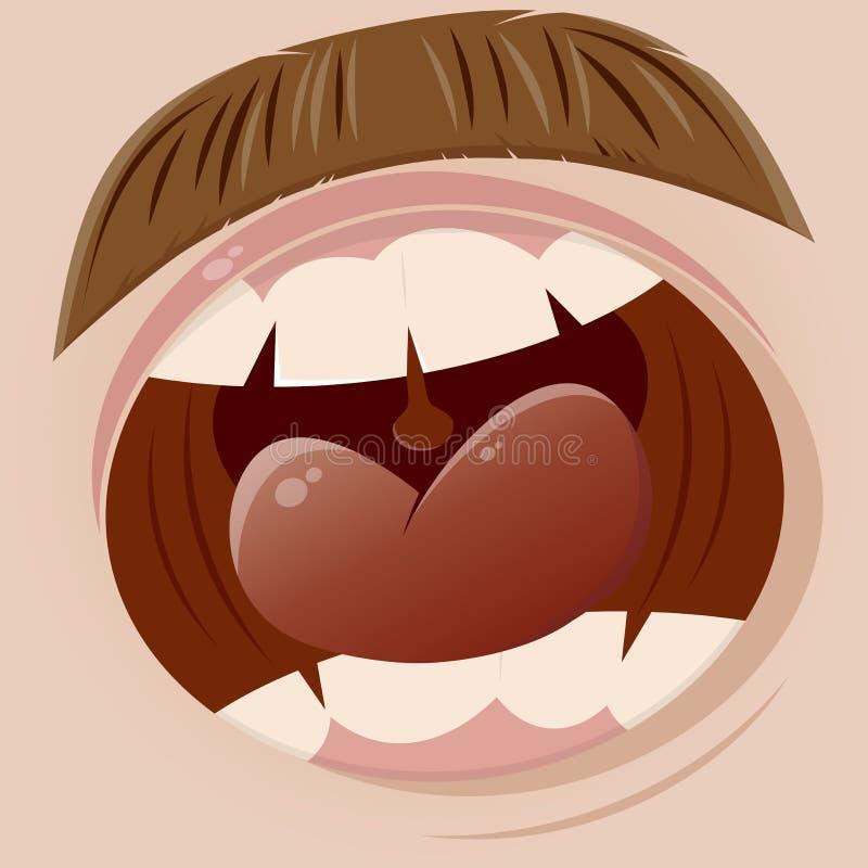 Boca de griterío libre illustration