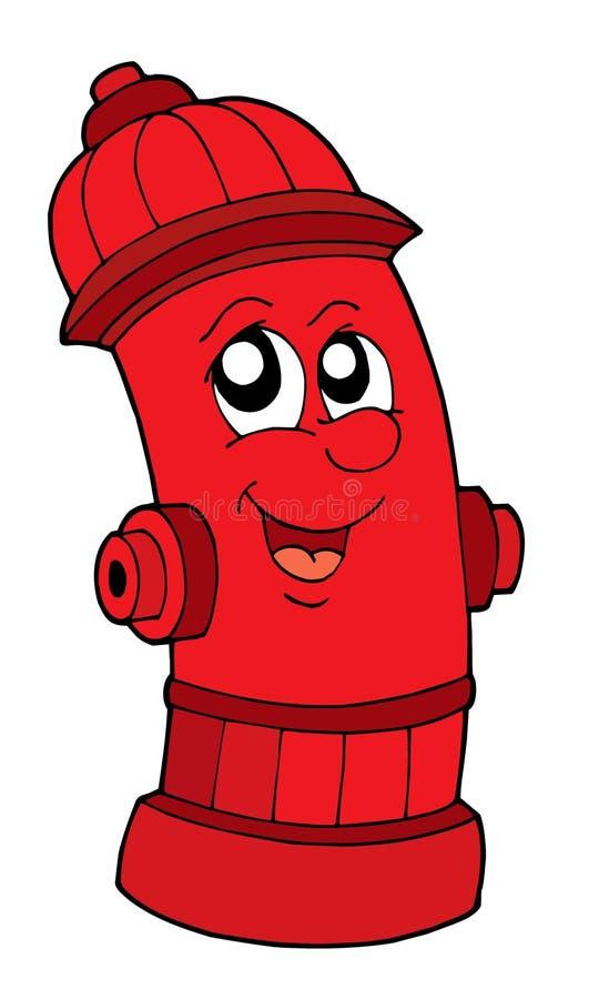 Boca de incêndio de incêndio vermelho bonito ilustração do vetor