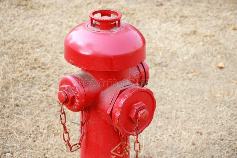 Boca de incêndio vermelha fotografia de stock