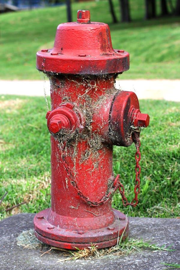 Boca de incêndio vermelha fotografia de stock royalty free
