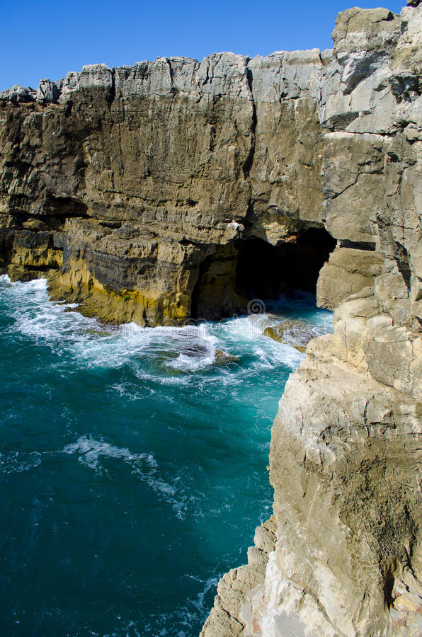 Boca de Inferno. Mouth Hell. Cascais. Portugal stock images